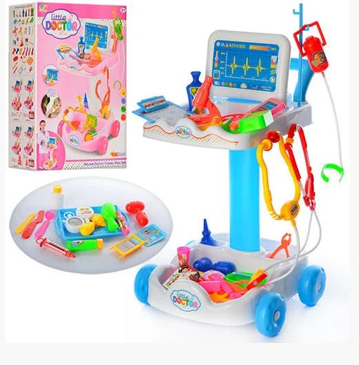 Детский игровой набор доктор 606-1-5 ( голубой)