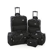 5 дорожных сумок на колесах Samsonite, комплект, черный, прочность 1200D !