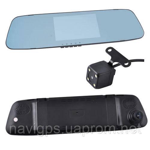 """Автомобільний відеореєстратор-дзеркало DVR L505C з двома камерами, 4.3"""", 1080P Full HD"""