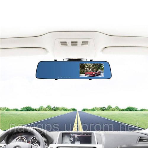 "Автомобильный видеорегистратор-зеркало L-9003, LCD 4.3"", TOUCH SCREEN, 2 камеры, 1080P Full HD"