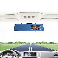 "Автомобильный видеорегистратор-зеркало L-9003, LCD 4.3"", TOUCH SCREEN, 2 камеры, 1080P Full HD, фото 1"