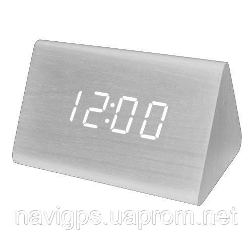 Часы сетевые VST-864-6 белые, температура, USB