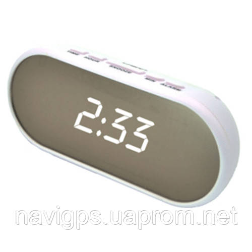 Годинник мережеві VST-712Y-6, білі, USB