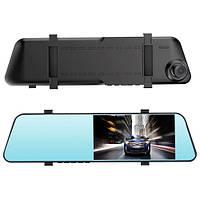 """Автомобильный видеорегистратор-зеркало 1031, LCD 4.3"""", 2 камеры, 1080P Full HD"""