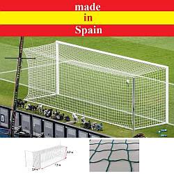 Профессиональная сетка для футбольных ворот 7,5х2,5х2х2 м. Green (шнур 4,5 мм., Испания)