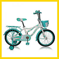 Дитячий двоколісний велосипед Crosser Kiddy 16 дюймів дітям від 4 до 7 років бірюзовий
