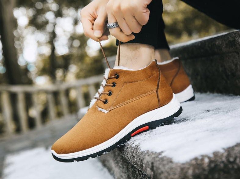 Утепленные мужские кроссовки, полуботинки