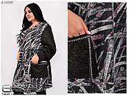 Длинная тёплая женская туника с карманами батал с 72 по 76 размер, фото 2