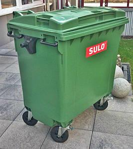 Пластиковый контейнер SULO на 770 л. для мусора