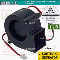 Вентилятор улитка 60x28мм для инкубатора коптильни питание 12В (5-12V) 0.18A GDSTIME-6028
