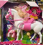 Лошадка игрушечная для куклы 360 24 см и 7 см, заколочки, фото 3