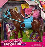Лошадка игрушечная для куклы 360 24 см и 7 см, заколочки, фото 4