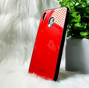 """Силіконовий чохол Samsung M20 2019 """"Glass"""" Червоний (red)"""