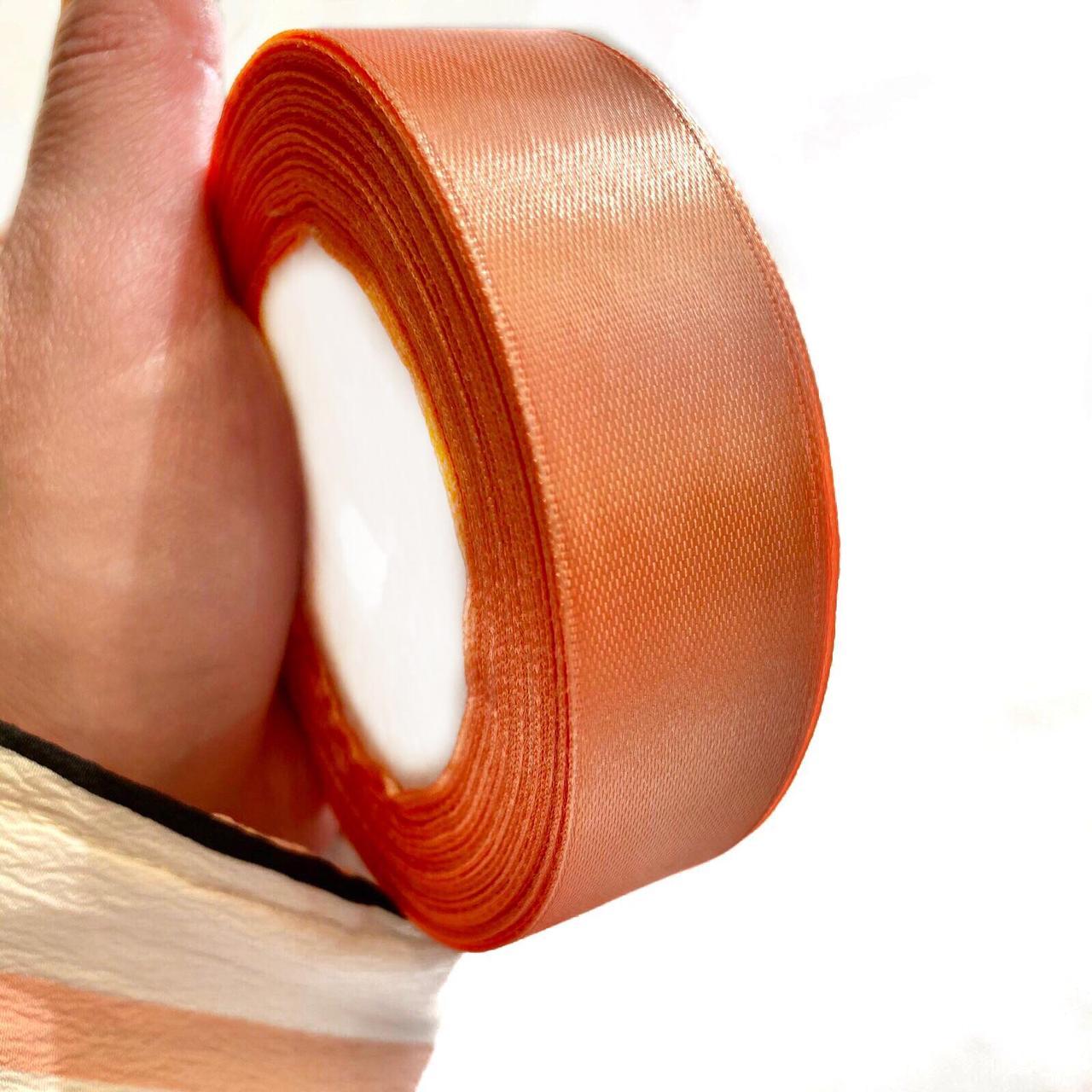 Лента атлас 2,5см ( оранжевый)