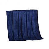 Покрывало плед полоска Шарпей Евро 200х230 см Синий, фото 2