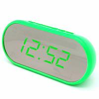 Часы сетевые настольные VST 712Y-4, зеленые, USB