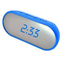 Часы сетевые настольные VST 712Y-5,синие, USB
