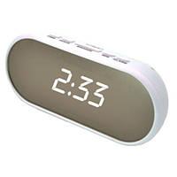 Часы сетевые настольные VST 712Y-6,белые, USB