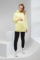 Худі для вагітних та годування лимонний 2105 1425