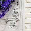 Серебряный пирсинг Стрекоза размер 50х13 мм вставка белые фианиты вес 4.25 г, фото 3