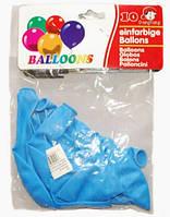 Шар воздушный 30 см стандарт голубой 10 шт/упаковка плотные