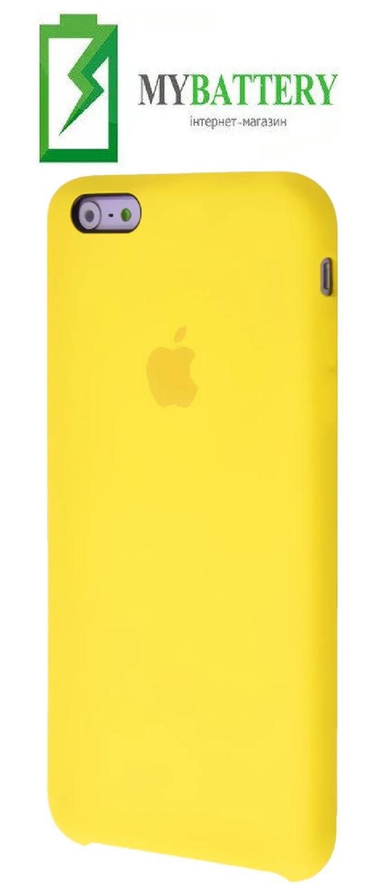 Чехол Silicone Case original (чехол-бампер) iPhone 6 Plus/ 6S Plus желтый (04)