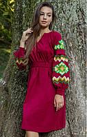 Стильне ошатне молодіжне плаття-вишиванка в українському стилі