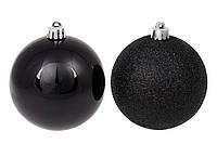Набор черных елочных шаров 12 шт *8см, микс, фото 1