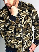 Мужская осенняя камуфляжная куртка, мужской камуфляжный бомбер, камуфляжная ветровка мужская, бомбер хаки