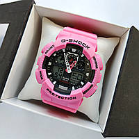 Спортивные наручные часы Casio G-Shock GA100 розовые с черным - код 0508, фото 1