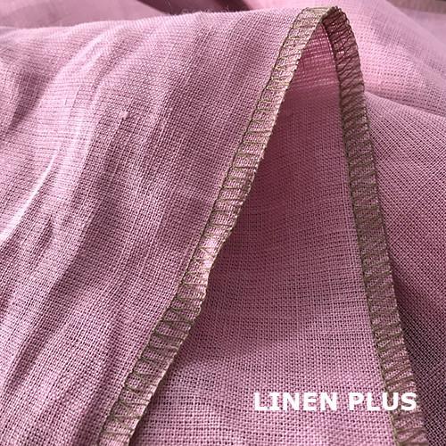 Розовая льняная ткань, цвет 561