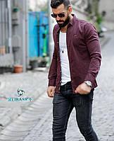Мужская джинсовая рубашка на кнопках, фото 1