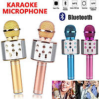 Караоке-микрофон, беспроводной Bluetooth микрофон WS-858, фото 1