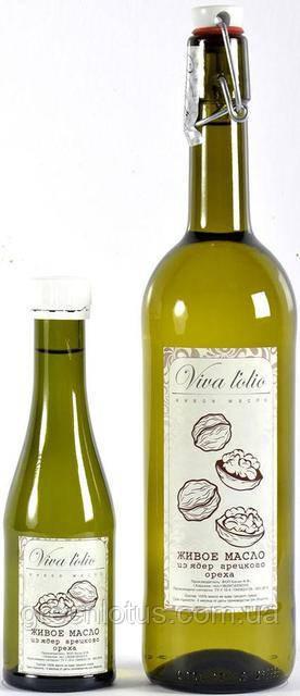 Масло грецкого ореха Viva l'olio, 1000мл, холодный отжим