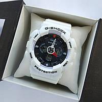 Спортивные наручные часы Casio G-Shock белые с черным - код 0148, фото 1