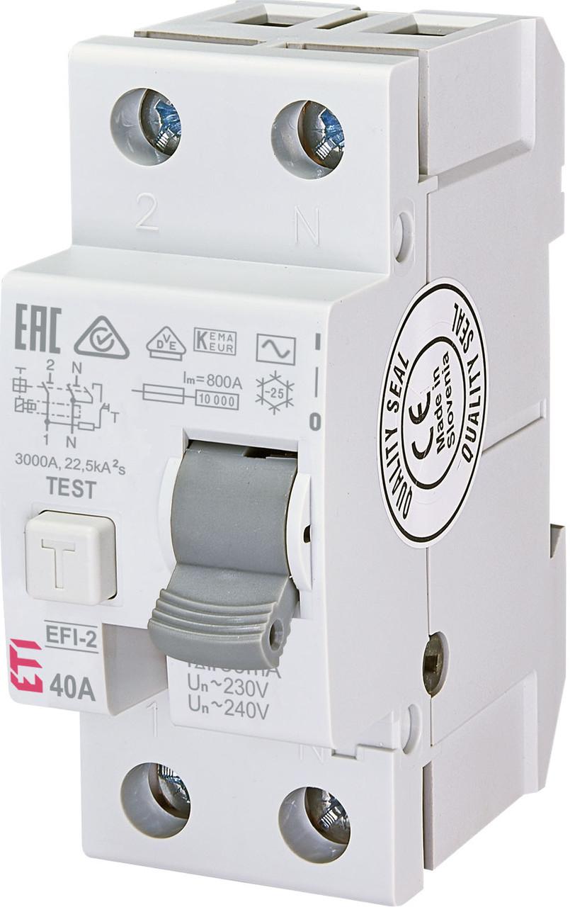Диф. реле ETI EFI-2 2p 40A 30mA 10kA 2062123