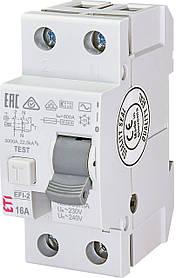 Диф. реле ETI EFI-2 2p 16A 300mA 10kA 2064121