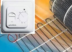 Теплый пол электрический в нагревательных матах под плитку