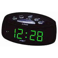 Часы сетевые настольные VST-773-4, зеленые, USB