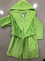 Дуже м'який халат для дівчинки, з капюшоном Kitti розмір 110-116 см)