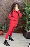 Женский костюм утепленный на флисе с капюшоном: худи удлиненное с кулисой внизу и штаны (в расцветках), фото 7
