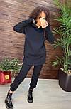 Женский костюм утепленный на флисе с капюшоном: худи удлиненное с кулисой внизу и штаны (в расцветках), фото 4