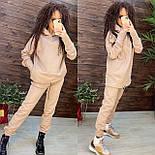 Женский костюм утепленный на флисе с капюшоном: худи удлиненное с кулисой внизу и штаны (в расцветках), фото 10