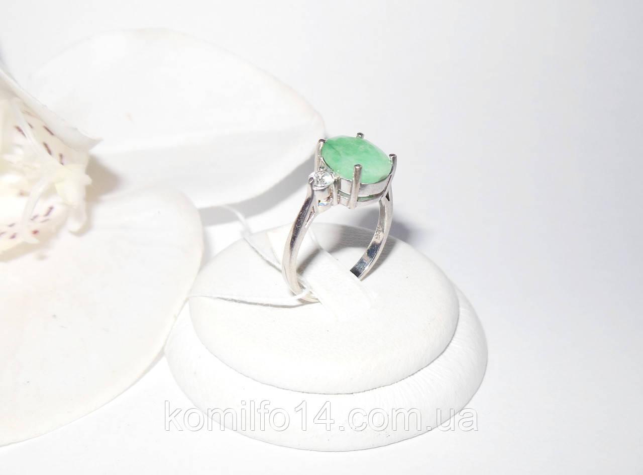 Серебряное кольцо с натуральным изумрудом