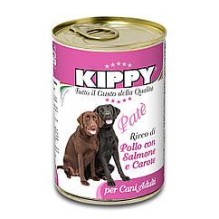 Паштет Kippy Dog для собак с курицей, лососем и морковью, 400 г