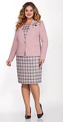 Платье-двойка женское Беларусь модель ЛК-1324-20 пудра