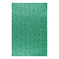 Фоаміран ЕВА зелений з глітером, 200*300 мм, товщина 1,7 мм, 10 аркушів