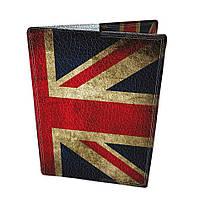Обложка на паспорт кожаная Английский флаг