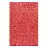 Фоаміран ЕВА червоний з глітером, 200*300 мм, товщина 1,7 мм, 10 аркушів