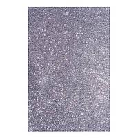 Фоаміран ЕВА темний срібний з глітером, 200*300 мм, товщина 1,7 мм, 10 аркушів